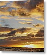 Sandy Beach Sunrise Metal Print