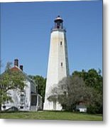 Sandy Hook Lighthouse IIi - N  J Metal Print