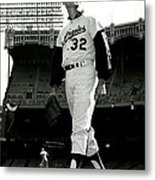 Sandy Koufax Vintage Baseball Poster Metal Print by Gianfranco Weiss