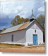 Sangre De Cristo Chapel In Cuartelez In New Mexico Metal Print