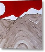 Sangre De Cristo Peaks Original Painting Metal Print
