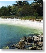 Sanibel Cove Metal Print by Anna Villarreal Garbis