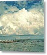 Sanibel Island Clouds Metal Print