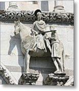 Sankt Martin Statue Lucca Metal Print