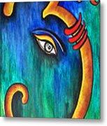 Sanskrit Om Ganesha Metal Print