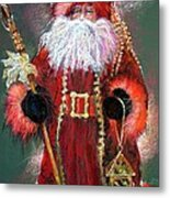 Santa As Father Christmas Metal Print by Shelley Schoenherr