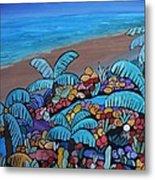 Santa Barbara Beach Metal Print by Barbara St Jean