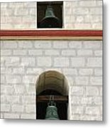Santa Barbara Mission Bells Metal Print