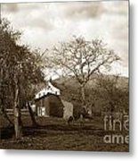 Santa Barbara Mission California Circa 1890 Metal Print