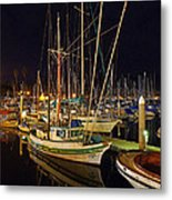 Santa Barbata Harbor Color Metal Print