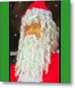 Santa Christmas Card Metal Print