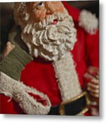 Santa Claus - Antique Ornament - 02 Metal Print