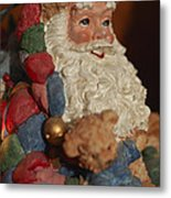 Santa Claus - Antique Ornament - 03 Metal Print