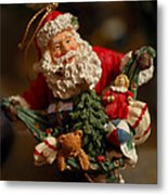 Santa Claus - Antique Ornament - 04 Metal Print