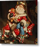 Santa Claus - Antique Ornament -05 Metal Print