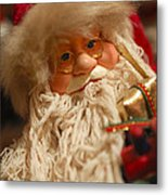 Santa Claus - Antique Ornament - 08 Metal Print