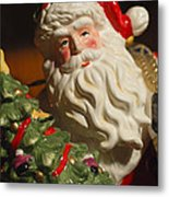 Santa Claus - Antique Ornament - 10 Metal Print by Jill Reger