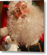 Santa Claus - Antique Ornament - 11 Metal Print by Jill Reger