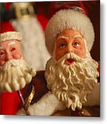 Santa Claus - Antique Ornament - 12 Metal Print by Jill Reger