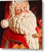 Santa Claus - Antique Ornament - 13 Metal Print by Jill Reger