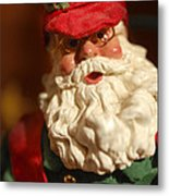 Santa Claus - Antique Ornament - 16 Metal Print