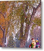 Santa Claus In The Snow Metal Print