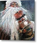 Santa Claus St Nick And The Nutcracker Metal Print