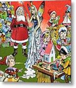 Santa Claus Toy Factory Metal Print by Jesus Blasco