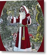 Santa Claus Walt Disney World Oval Metal Print
