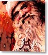 Santa Clause Vintage Poster A Joyful Christmas Metal Print