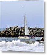 Santa Cruz Harbor Metal Print
