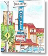 Santa Cruz Inn Motel In Riverside - California Metal Print by Carlos G Groppa