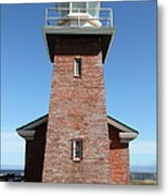 Santa Cruz Lighthouse Surfing Museum California 5d23944 Metal Print by Wingsdomain Art and Photography