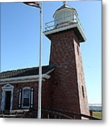 Santa Cruz Lighthouse Surfing Museum California 5d23948 Metal Print by Wingsdomain Art and Photography