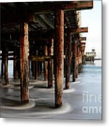 Santa Cruz Pier California Metal Print