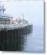 Santa Cruz Pier In The Fog Metal Print