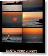 Santa Cruz Sunset  Metal Print by AJ  Schibig