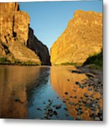 Santa Elena Canyon And Rio Grande Metal Print