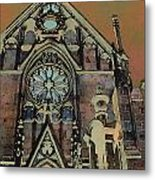 Santa Fe Cathedral Metal Print