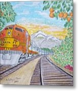 Santa Fe Super Chief Train Metal Print