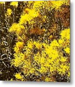Santa Fe Yellow Metal Print