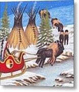 Santa For Indians Metal Print by Billie Bowles