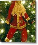 Santa Got Hung Up Metal Print