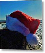 Santa Hat And Ocean 10 12/19 Metal Print