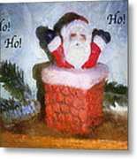 Santa Ho Ho Ho Photo Art Metal Print