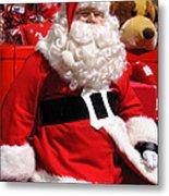 Santa Is Ready Metal Print