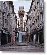 Santa Justa Lift In Lisbon Metal Print