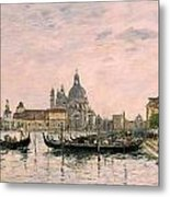 Santa Maria Della Salute And The Dogana Metal Print