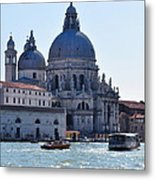 Santa Maria Della Salute Surrounded By Sparkling Waters Metal Print