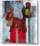 Santa Merry Christmas Photo Art 02 Metal Print